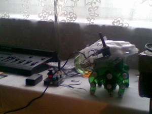 CheBot II, so-to-say - just a first proof-of-concept of the wireless motor control