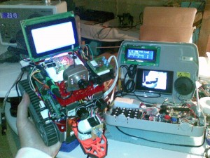 The finished robot and remote control