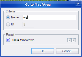 """Go to Map"" window"
